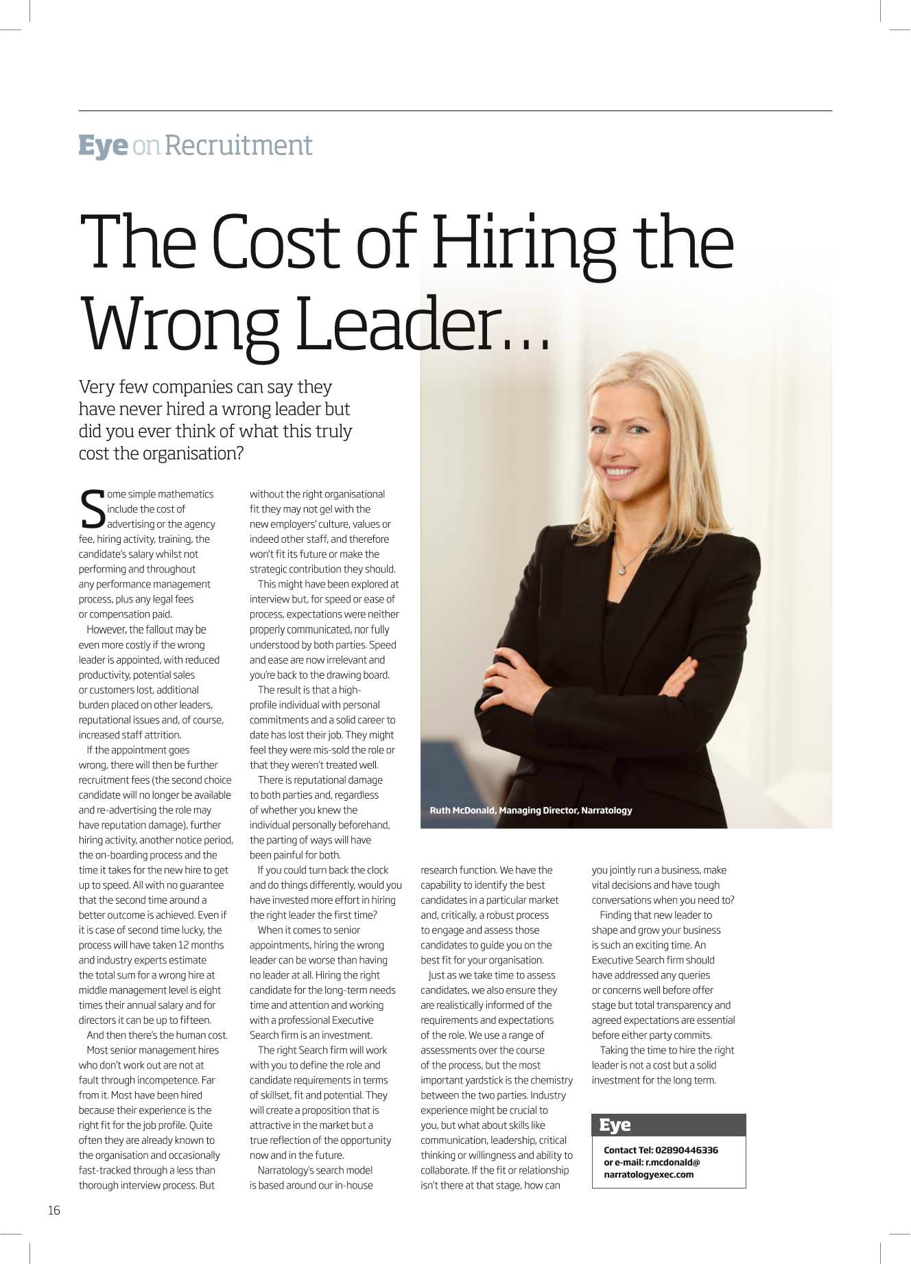The Cost of Hiring the Wrong Leader